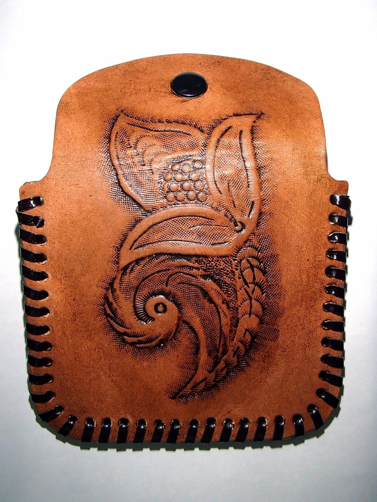 Porte monnaie en cuir vue de dos ouvert
