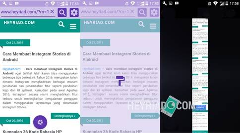 Cara Screenshot Full Page di Android