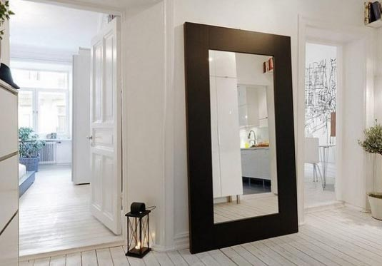 INSPIRATION ARCHIVE: MIRROR LEANING AGAINST THE WALL