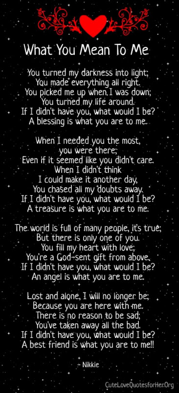 You Mean The World To Me Quotes For Him | Wallpapers Screen