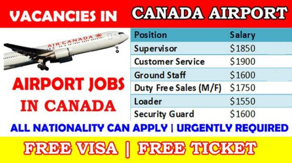 Apply for Airport Jobs in Canada With Free Visa - Apply Now