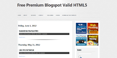 Blogger Template Valid HTML5 dan SEO Friendly, Template Blog SEO