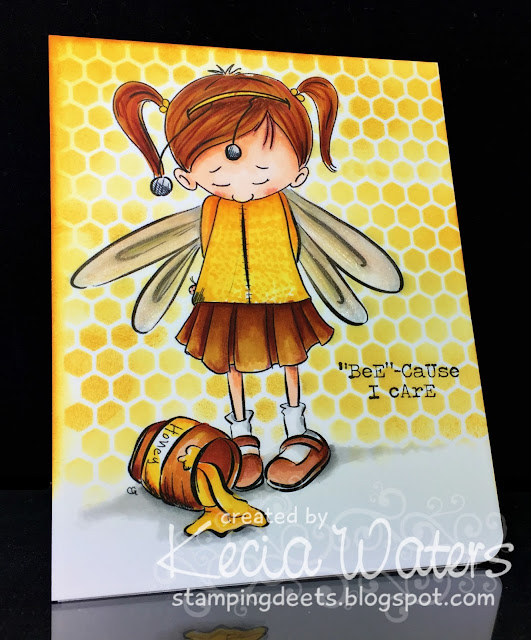 Sassy Cheryl's, Kecia Waters, Copic markers, bee, honey