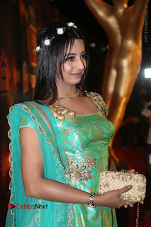 Actress Sanjjanaa Stills in Green Long Dress at Gemini TV Puraskaralu 2016 Event  0019.JPG