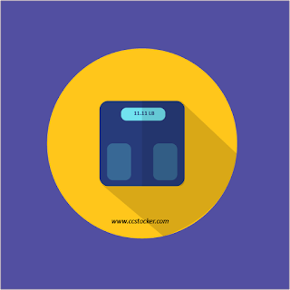 Flat icon of bathroom weight machine
