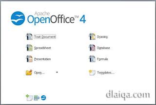 halaman awal Open Office 4