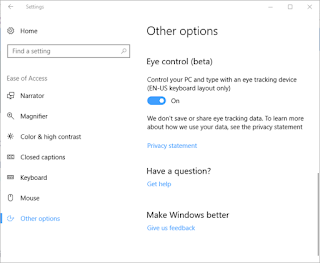 Eye Control Windows 10