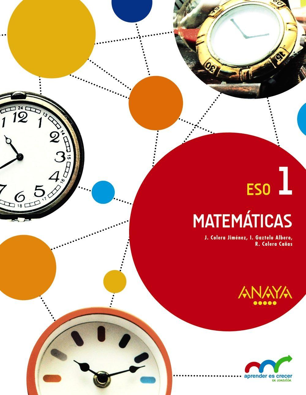 Libro Matemáticas 1º ESO Anaya Proyecto Aprender es Crecer
