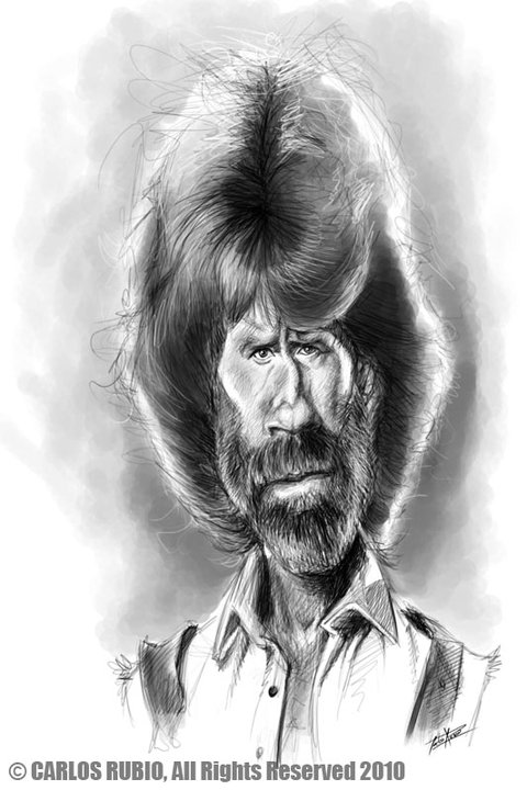 Chuck Norris por Carlos Rubio