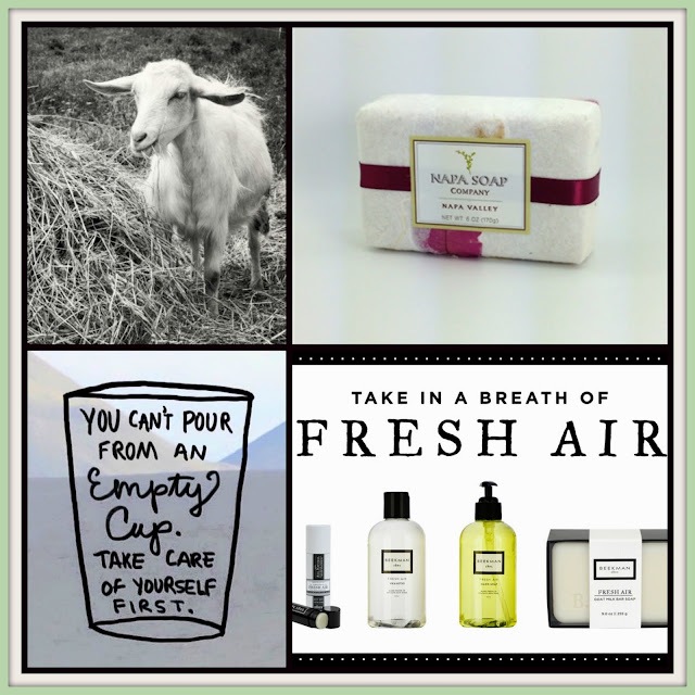 Goats' milk Beekman products at The Camellia