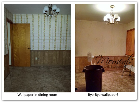 The wallpaper is gone!