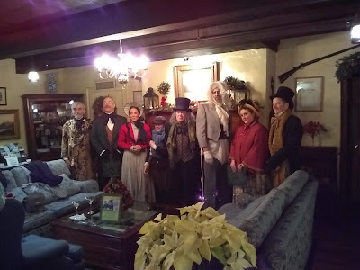 Live performance of A Christmas Carol, performed at the Beekman Arms Hotel in Rhinebeck New York.  Wonderful Dinner theater performance