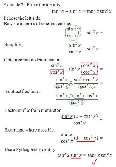 Math Rescue Trigonometry Proving Trigonometric Identities