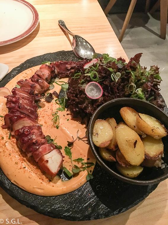 Restaurante el Cascanueces, pulpo. Bilbao