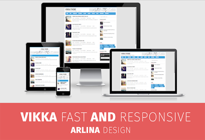 Template SEO Friendly GRATIS VIKKA FAST.