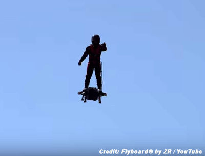 FLYBOARD – An Amazing, Real Hoverboard with Autonomous Flight Up To 10,000 ft