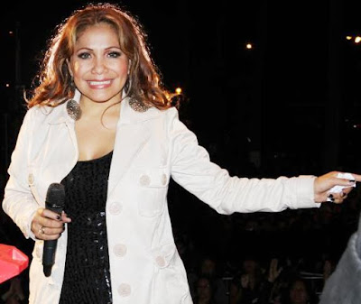 Foto de Marisol en el escenario