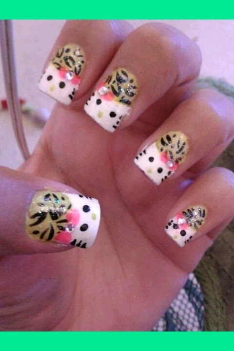 Nice Cheetah Nail Art   Nail Art Ideas 101