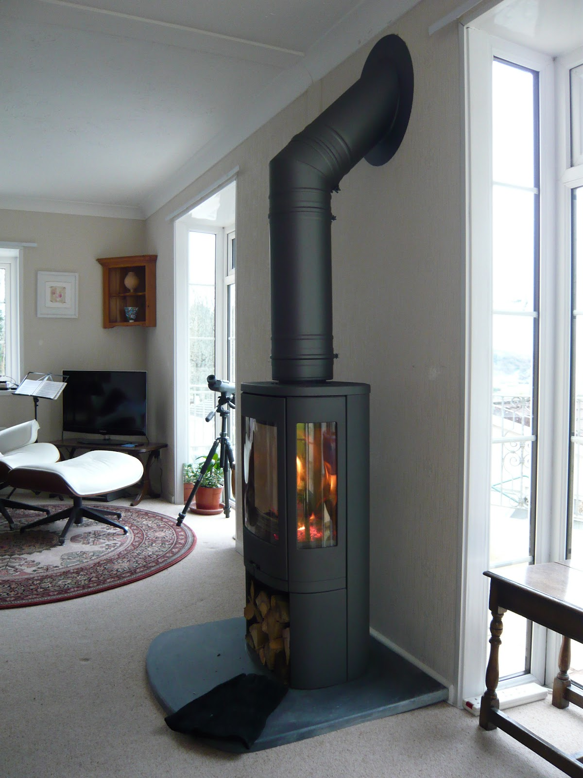 Redwood Stoves Ltd Cornwall Contura 850 In Grey With Cut
