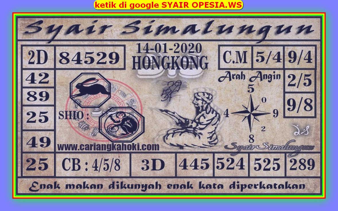 Kode syair Hongkong Selasa 14 Januari 2020 125