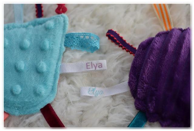 rubans étiquettes personnalisées prénom Elya