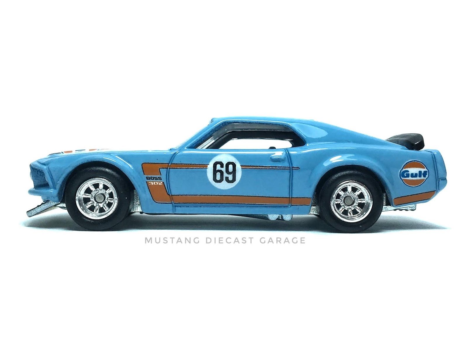 Hot wheels 69 ford mustang boss 302 series 2019 car culture gulf exclusive สีฟ้า 164