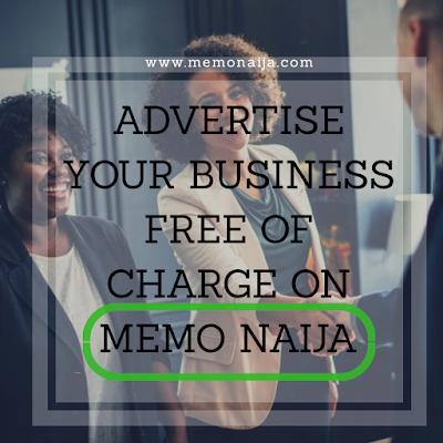 Advertise your business on Memo Naija