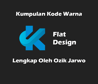 Kumpulan 40 Kode Warna Flat Design Lengkap