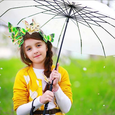 yellow butterfly girl images