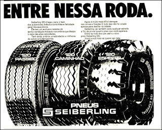 pneus Seiberling, 1971; brazilian advertising cars in the 70s; os anos 70; história da década de 70; Brazil in the 70s; propaganda carros anos 70; Oswaldo Hernandez;