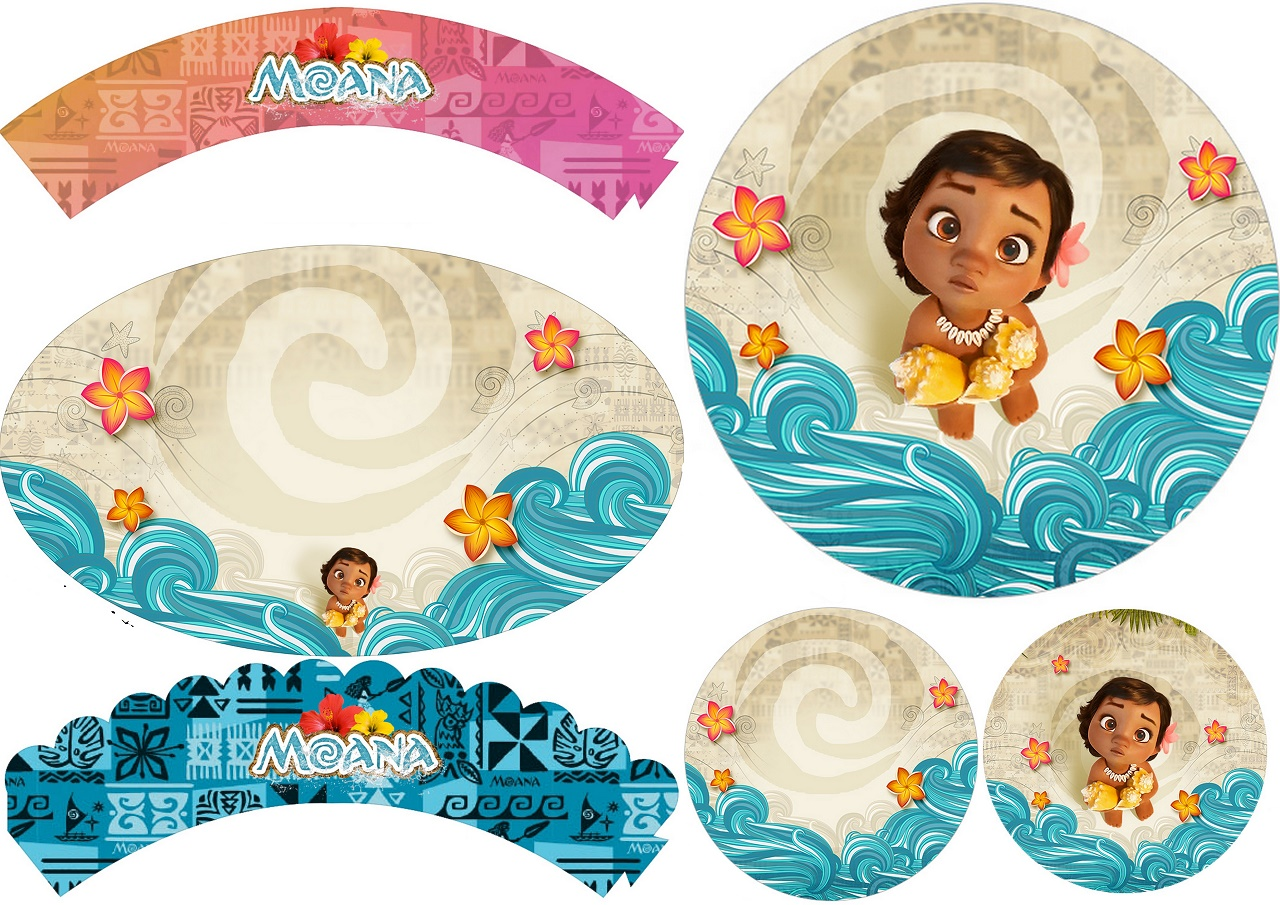 Moana Baby Free Printable Cupcake Toppers And Wrappers