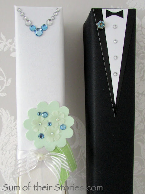 Bride and Groom gift wrap boxes