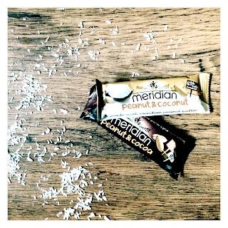 Meridian, nut bar, nuts, peanuts, cocoa, coconut