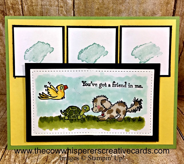 Card, Bella & Friends, Eclectic Expressions, Stitched Rectangle