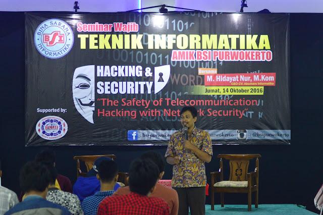 BSI Purwokerto Adakan Seminar Hacking and Security