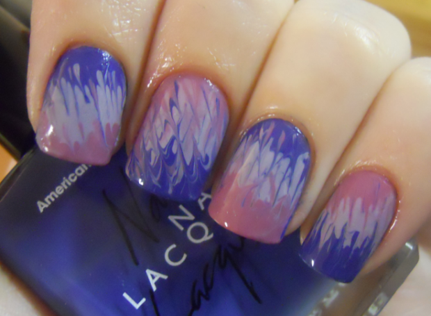 holy manicures purple tie-dye