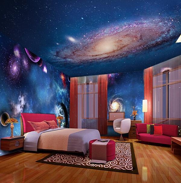Mẫu trần nhà in dải ngân hà 1