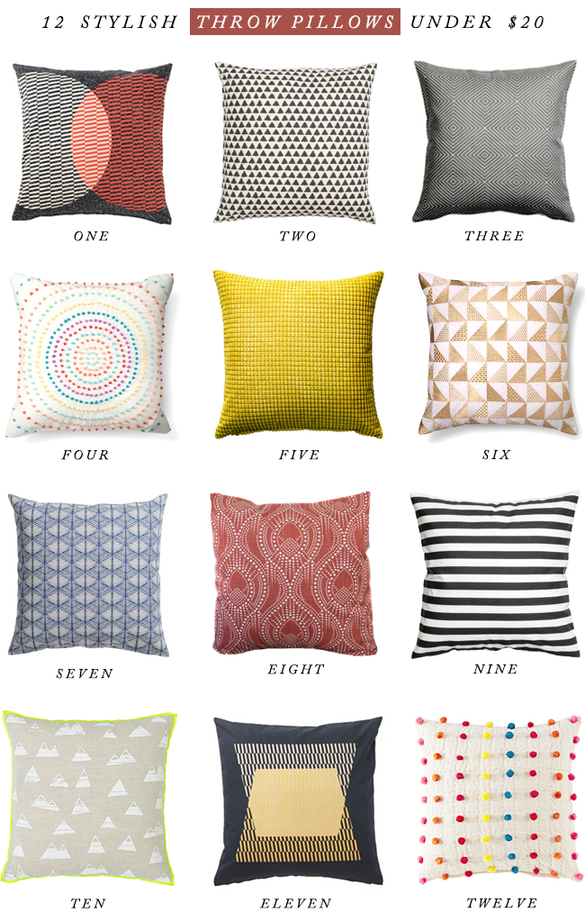 12 Stylish Throw Pillows & Covers Under $20