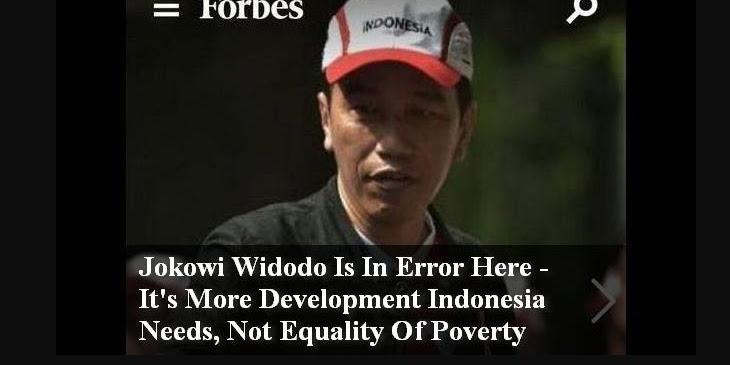 Majalah Forbes Sebut Joko Widodo Error
