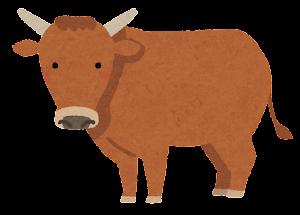 和牛のイラスト(褐毛和種)