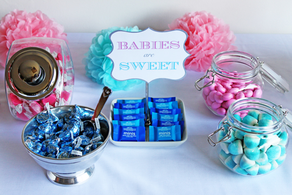 Sweet ideas for a gender-reveal party