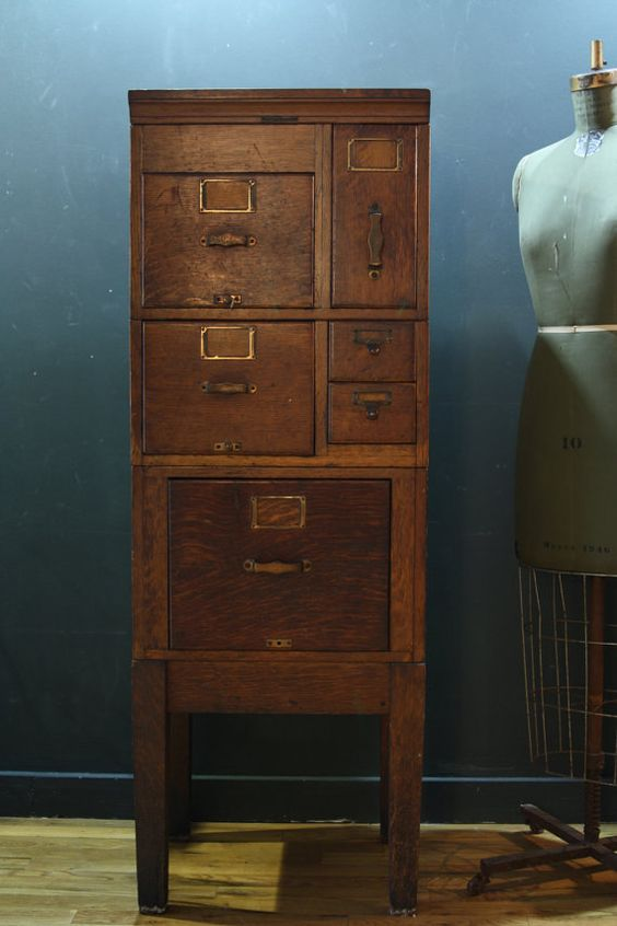 With Hook And Needle Antique Samplers And Cabinet