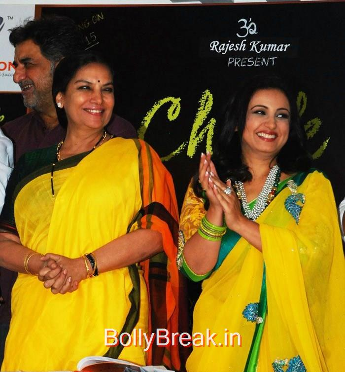 Shabana Azmi, Divya Dutta, Hot HD Images of Juhi Chawla Upsasana Singh at 'Chalk N Duster' Mahurat