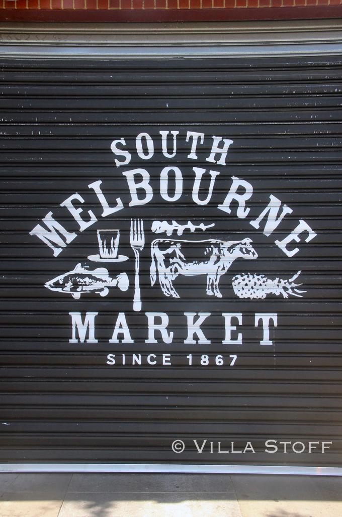Ein Besuch Auf Dem South Melbourne Market Villa Stoff