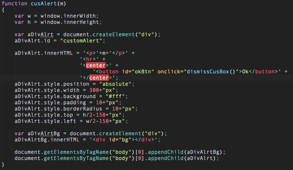 How to create custom alert box using JAVASCRIPT and CSS