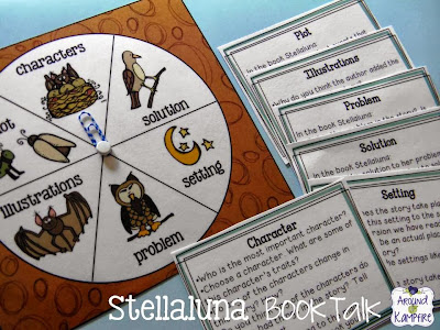 Stellaluna story structure activity with book talk discussion cards.