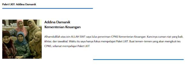 Lulus CPNS Kementerian keuangan Paket LKIT