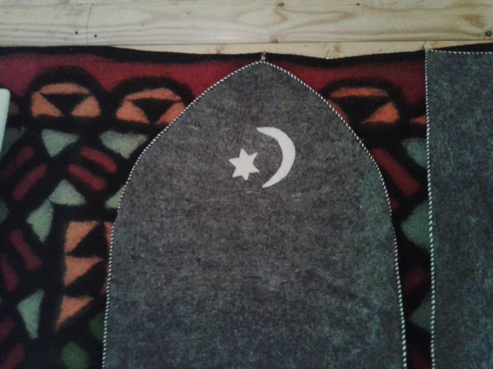 карачаево-балкарский войлочный ковер- кийиз
