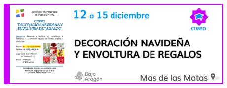 Curso de decoración navideña y envoltura de regalos en el Mas de las Matas