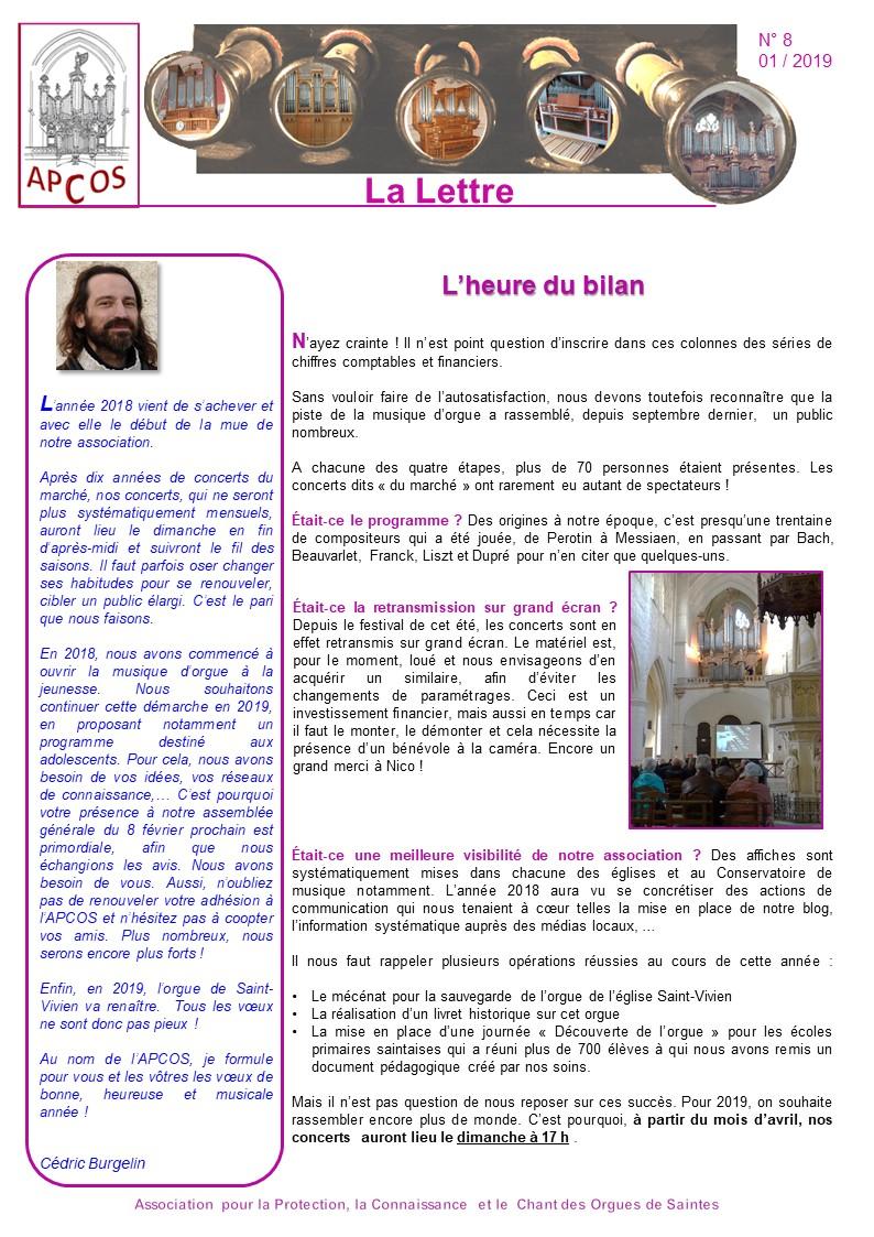 Lettre Apcos 8 - page 1 - apcossaintes